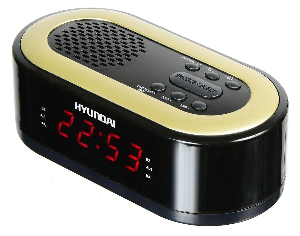 Радиобудильник Hyundai H-RCL230 черный LED подсв:красная часы:цифровые FM