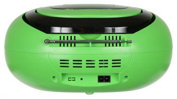 Аудиомагнитола Hyundai H-PCD260 зеленый/черный 4Вт/CD/CDRW/MP3/FM(dig)/USB/SD/MMC/microSD