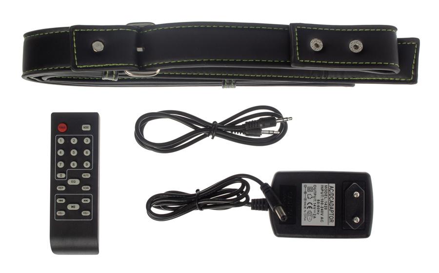 Минисистема Hyundai H-MC220 черный/синий 50Вт/FM/USB/BT/SD/MMC