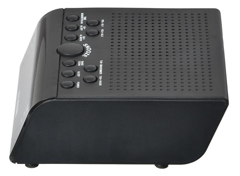 Радиобудильник Hyundai H-RCL180 черный LED подсв:красная часы:цифровые AM/FM