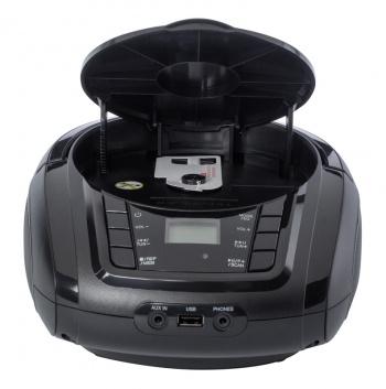 Аудиомагнитола Hyundai H-PCD320 черный 4Вт/CD/CDRW/MP3/FM(dig)/USB/BT/SD/MMC/microSD