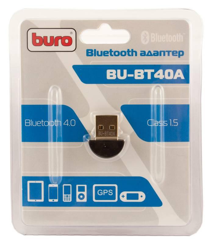 Buro адаптер usb buro bu-bt30 bluetooth 3. 0+edr class 2 10м черный.