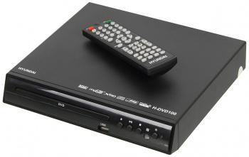 Плеер DVD Hyundai H-DVD100 черный ПДУ