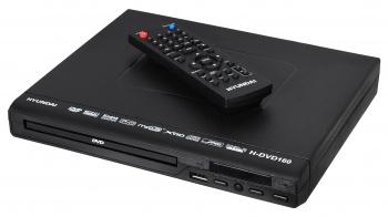 Плеер DVD Hyundai H-DVD160 черный ПДУ