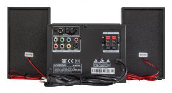 Микросистема Hyundai H-MS200 черный 30Вт/CD/CDRW/DVD/DVDRW/FM/USB/SD/MMC/MS