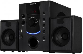 Микросистема Hyundai H-HA200 черный 49Вт/FM/USB/SD