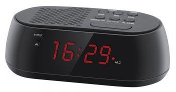 Радиобудильник Hyundai H-RCL210 черный LED подсв:красная часы:цифровые FM