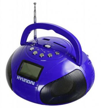 Аудиомагнитола Hyundai H-PAS100 фиолетовый 6Вт/MP3/FM(dig)/USB/SD