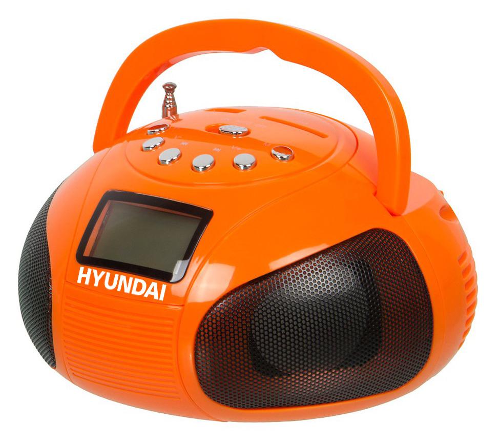 Аудиомагнитола Hyundai H-PAS120 оранжевый 6Вт/MP3/FM(dig)/USB/SD