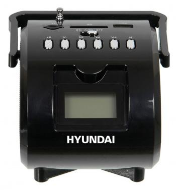 Аудиомагнитола Hyundai H-PAS180 черный 6Вт/MP3/FM(dig)/USB/SD