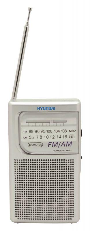 Радиоприемник портативный Hyundai H-PSR100 серебристый