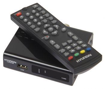 Ресивер DVB-T2 Hyundai H-DVB100 черный