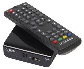 Ресивер DVB-T2 Hyundai H-DVB120 черный