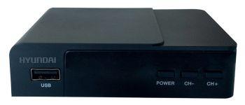 Ресивер DVB-T2 Hyundai H-DVB140 черный