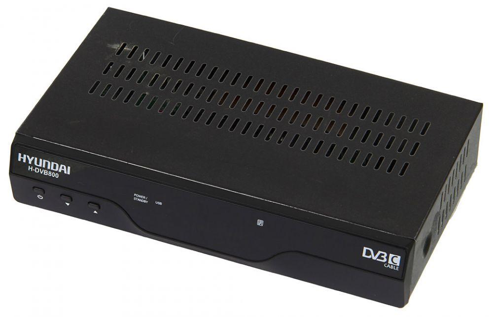 Ресивер DVB-C Hyundai H-DVB800 черный