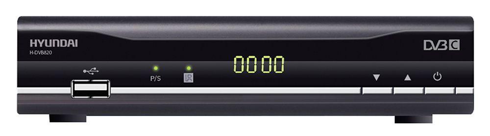 Ресивер DVB-C Hyundai H-DVB820 черный