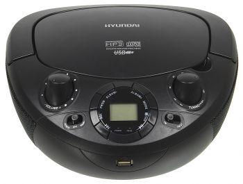 Аудиомагнитола Hyundai H-PCD200 черный 2Вт/CD/CDRW/MP3/FM(dig)/USB