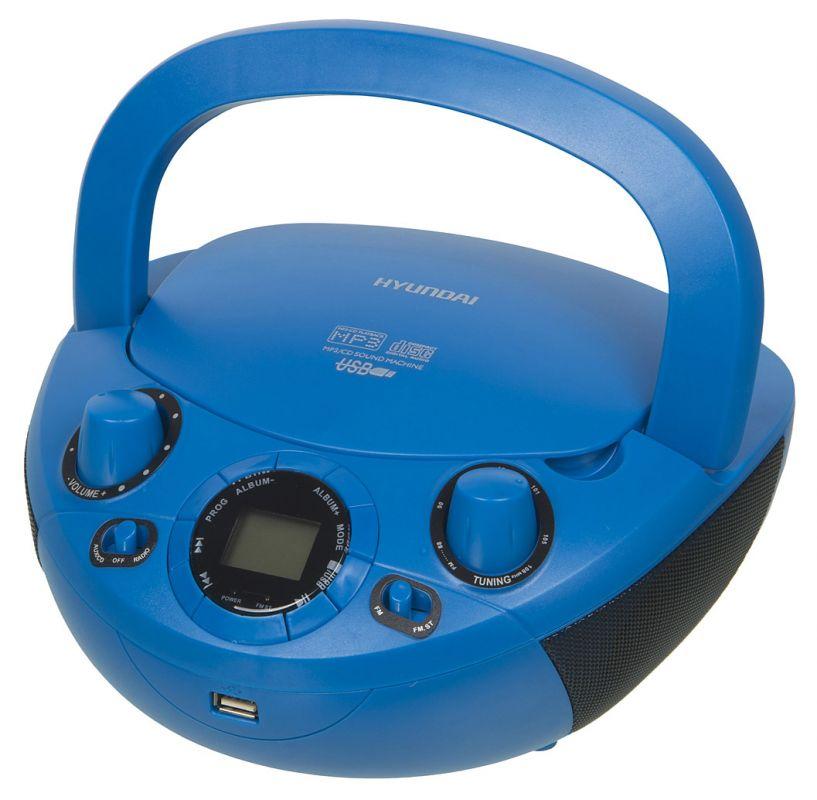 Аудиомагнитола Hyundai H-PCD220 синий 2Вт/CD/CDRW/MP3/FM(dig)/USB