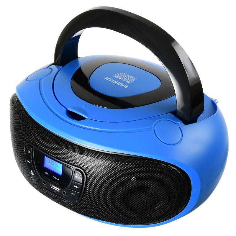 Аудиомагнитола Hyundai H-PCD240 синий/черный 4Вт/CD/CDRW/MP3/FM(dig)/USB/SD/MMC/microSD