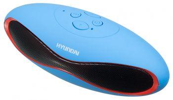 Колонка порт. Hyundai H-PAC120 синий 3W 1.0 BT/3.5Jack/USB