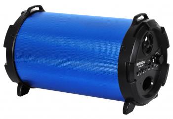 Колонка порт. Hyundai H-PAC240 синий/черный 16W 1.0 BT/3.5Jack/USB