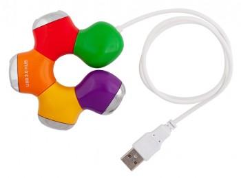 Хаб PC PET 4-port USB2.0 (Flower)