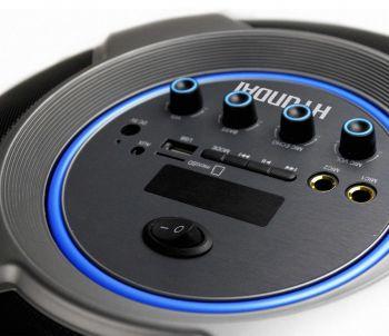 Минисистема Hyundai H-MC100 черный 50Вт/FM/USB/BT/SD/MMC