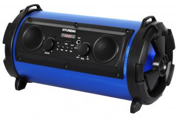 Минисистема Hyundai H-MC200 черный/синий 25Вт/FM/USB/BT/SD/MMC