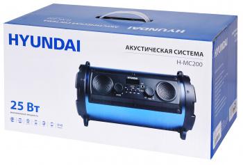 Минисистема Hyundai H-MC200 черный/синий 25Вт FM USB BT SD/MMC