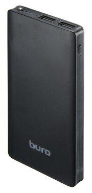 Мобильный аккумулятор Buro RCL-10000-BK Li-Pol 10000mAh 2.1A черный 2xUSB
