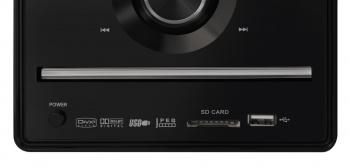 Микросистема Hyundai H-MS240 черный 30Вт/CD/CDRW/DVD/DVDRW/FM/USB/BT