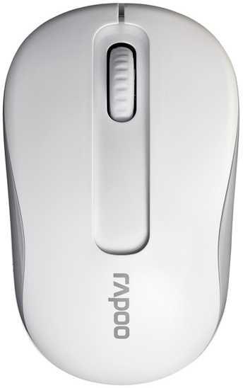 Мышь Rapoo M10 Plus белый оптическая (1000dpi) беспроводная USB (2but)