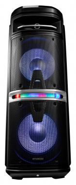Минисистема Hyundai H-MC280 черный 500Вт/FM/USB/BT