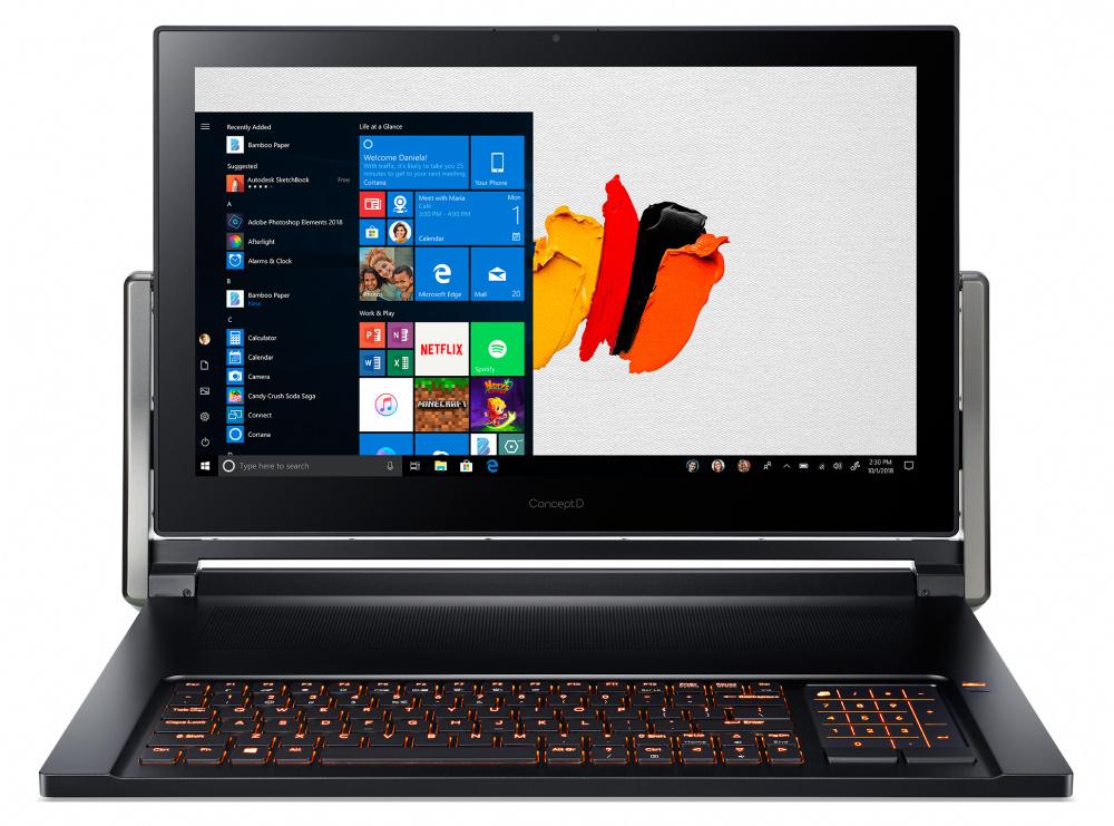 Трансформер Acer ConceptD 9 Pro CN917-71P-98EN Core i9 9980HK/32Gb/SSD1Tb+1Tb/nVidia Quadro RTX 5000 16Gb/17.3