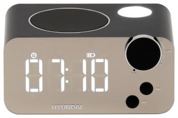 Радиобудильник Hyundai H-RCL320 черный LCD подсв:белая часы:цифровые FM