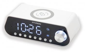 Радиобудильник Hyundai H-RCL380 белый LCD подсв:белая часы:цифровые FM