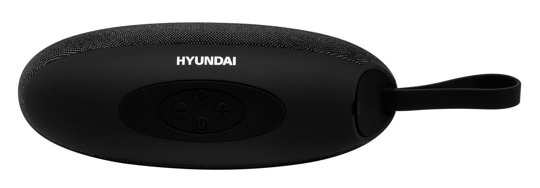 Колонка порт. Hyundai H-PAC260 черный/черный 5W 1.0 BT/3.5Jack/USB 10м 1500mAh