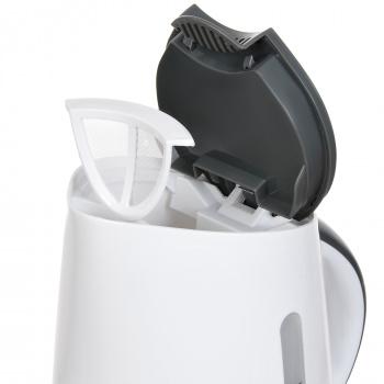 Чайник электрический Hyundai HYK-P3021 1.7л. 2200Вт белый/серый (корпус: пластик)