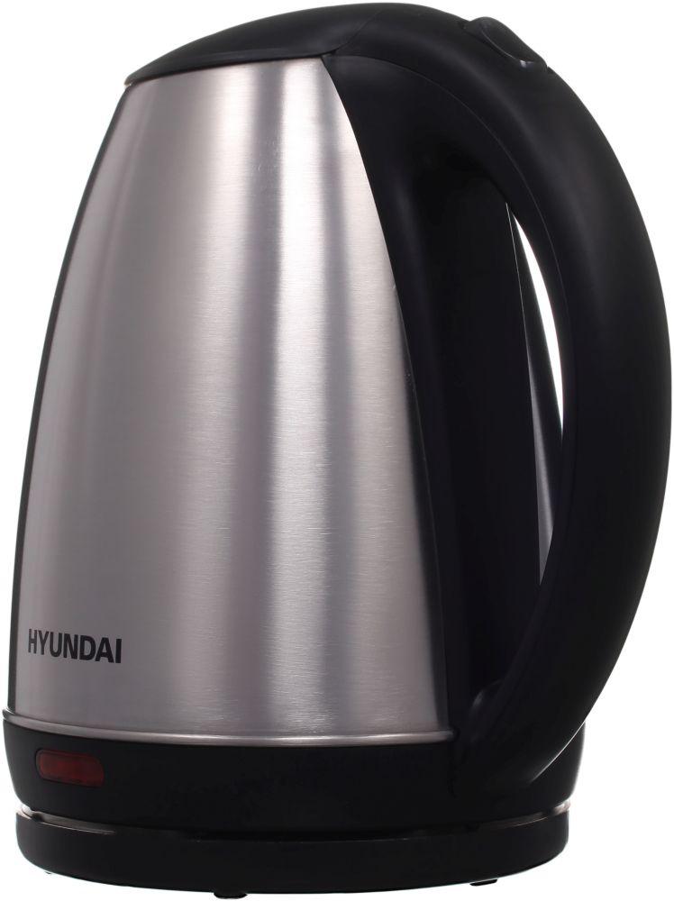 Чайник электрический Hyundai HYK-S1030 1.7л. 2200Вт серебристый матовый/черный (корпус: металл)