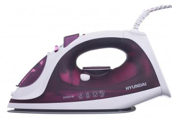 Утюг Hyundai H-SI01961 2400Вт белый/фиолетовый