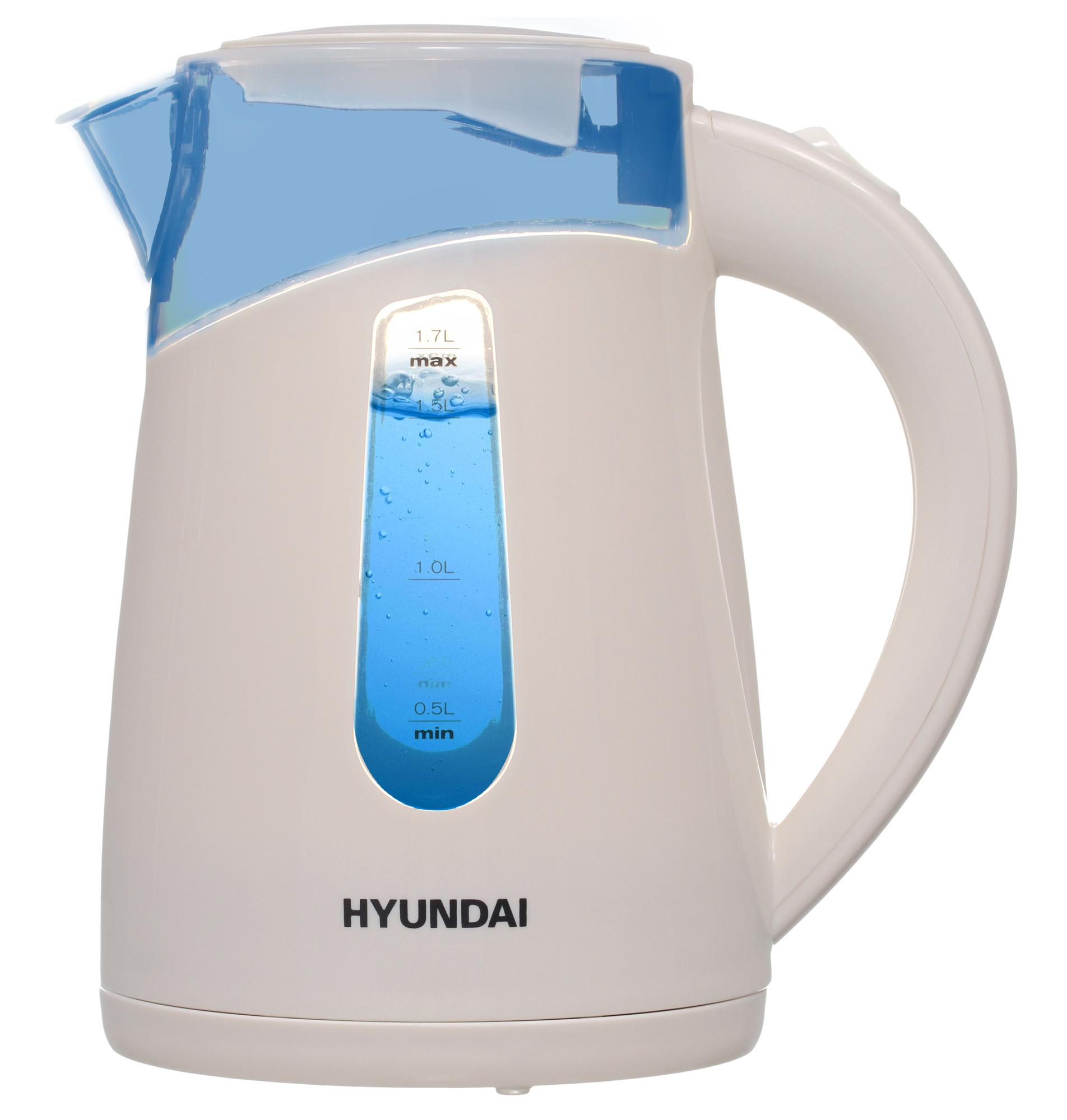 Чайник электрический Hyundai HYK-P2030 1.7л. 2200Вт кремовый (корпус: пластик)