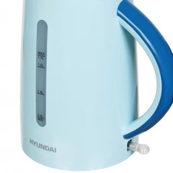Чайник электрический Hyundai HYK-P3023 1.7л. 2200Вт голубой/синий (корпус: пластик)