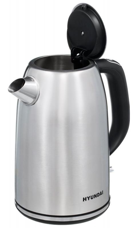 Чайник электрический Hyundai HYK-S3040 1.7л. 2200Вт серебристый матовый/черный (корпус: металл)