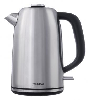 Чайник электрический Hyundai HYK-S3041 1.7л. 2200Вт серебристый матовый/черный (корпус: металл)