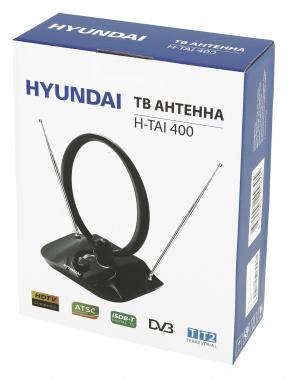 Антенна телевизионная Hyundai H-TAI400 30дБ активная черный