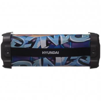 Колонка порт. Hyundai H-PAC460 черный 9W 1.0 BT/3.5Jack/USB 10м 1500mAh