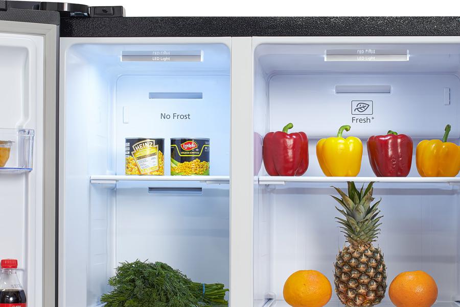 Холодильник Hyundai CS5003F черная сталь (двухкамерный)