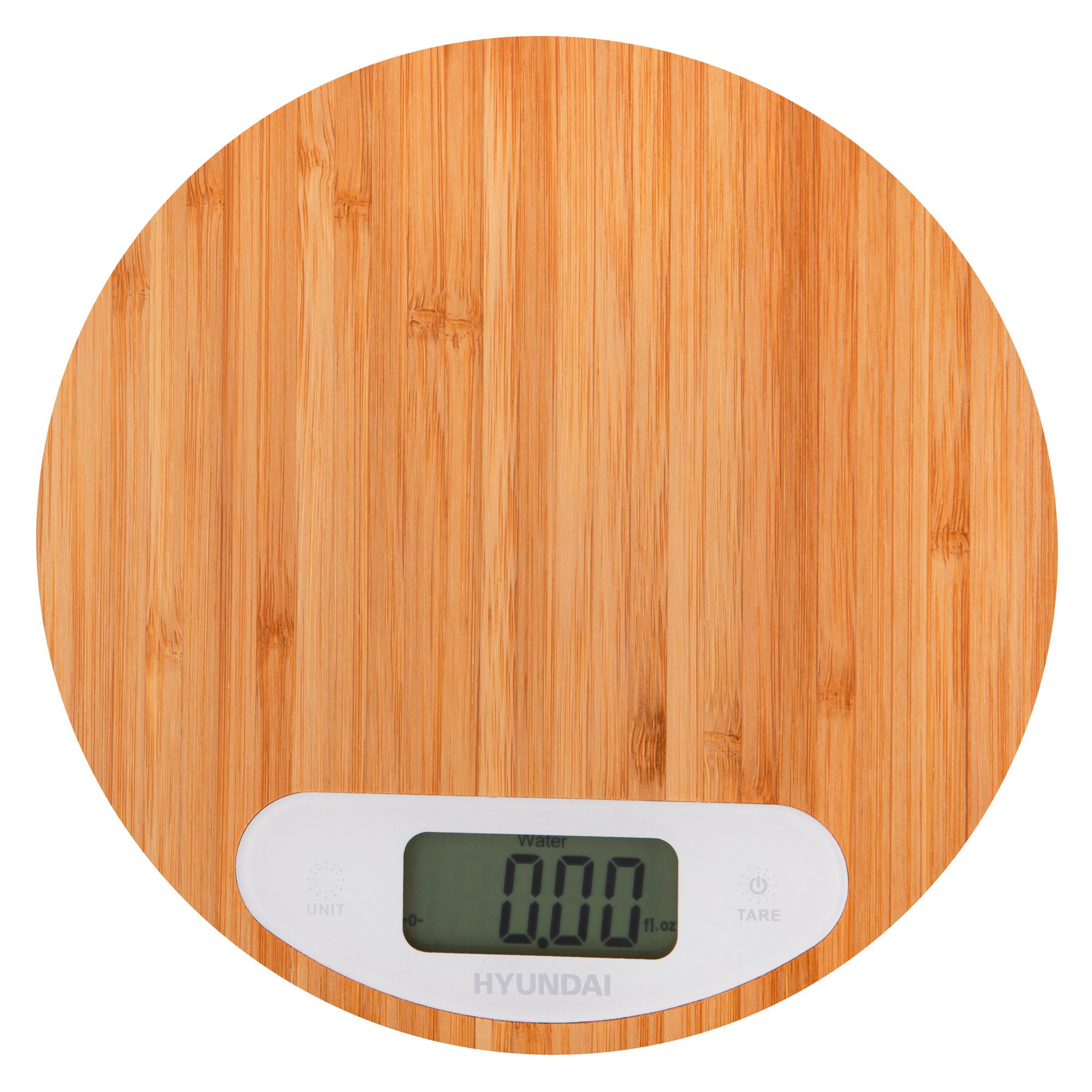 Весы кухонные электронные Hyundai HYS-KB421 макс.вес:5кг бамбук