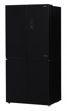 Холодильник Hyundai CM5005F черное стекло (трехкамерный)