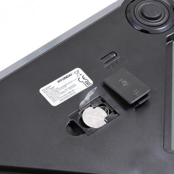 Весы напольные электронные Hyundai H-BS03345 макс.180кг серый
